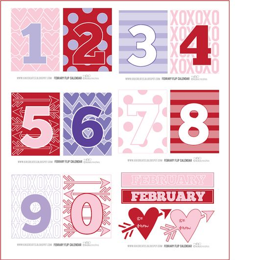 Valentine activities FREE valentine-themed number cards