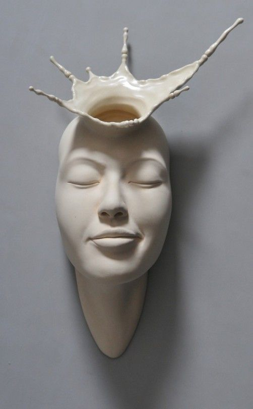 Open Mind: New Warped Face Sculptures by Johnson Tsang | Sculpture ...