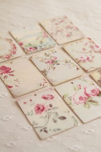 Shabby chic tile pinterest gift tags for Shabby chic wall tiles