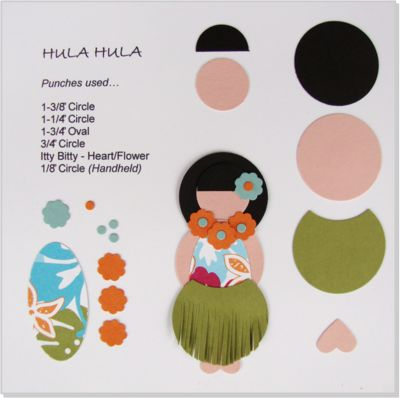 Hula girl punch art