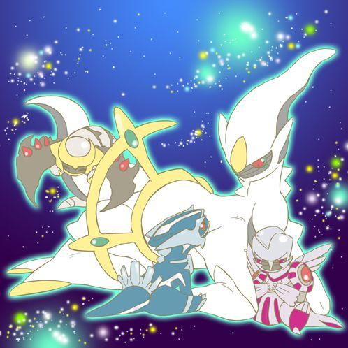 Dialga, Palkia, Giratina and Arceus   Pokemon Art ...Dialga Palkia Giratina Arceus