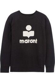 Étoile Isabel MarantCody terry-embroidered cotton-blend jersey sweatshirt