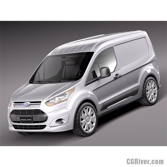 Ford Transit Connect Cargo 2014 Short - 3D Model