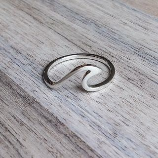 Silver Wave Ring | Bohemian Jewellery | Indie and Harper