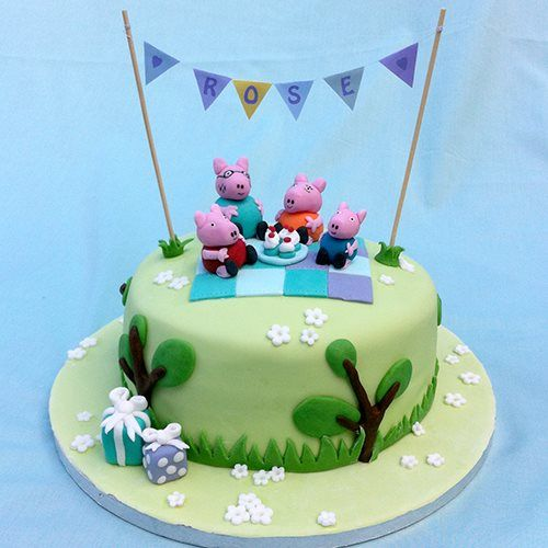 Peppa pig cake peppa pig birthday peppa pig party for Peppa pig cake template free