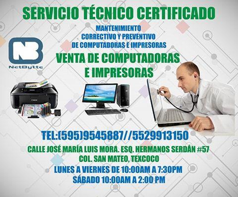 Netbytte Servicio Técnico Certificado Mantenimiento Correctivo Y Preventivo De Computadoras E Impresoras Https Www Servicio Técnico Impresora Computacion