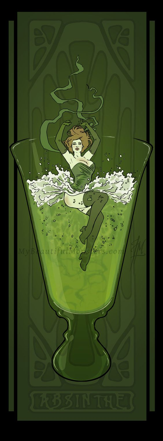 Art Nouveau Absinthe Poster by Lily McDonnell ...