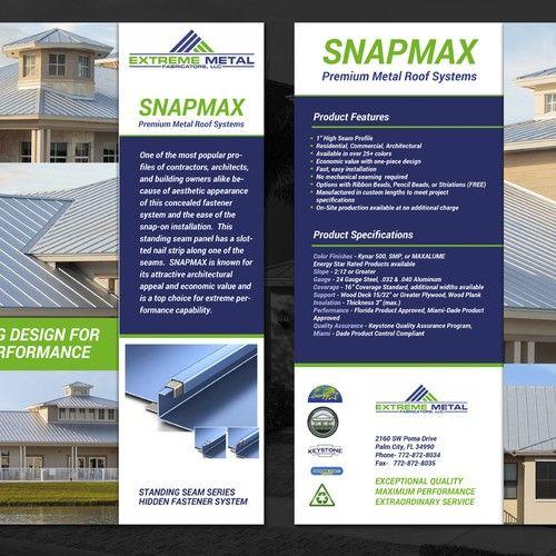Peak Design For Top Metal Manufacturer Brochure Contest Sponsored Design Brochure Winning Tara In 2020 Peak Design Brochure Design