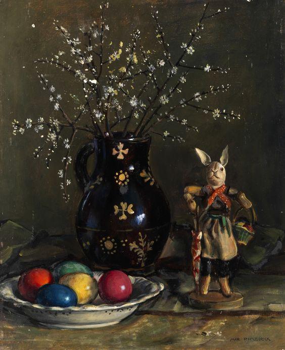 Max Rimböck (1890-1956) —  Easter Still Life  (1302×1600):