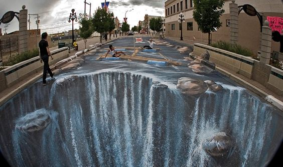 waterfall by edgar muller. This would make me dizzy to walk on.