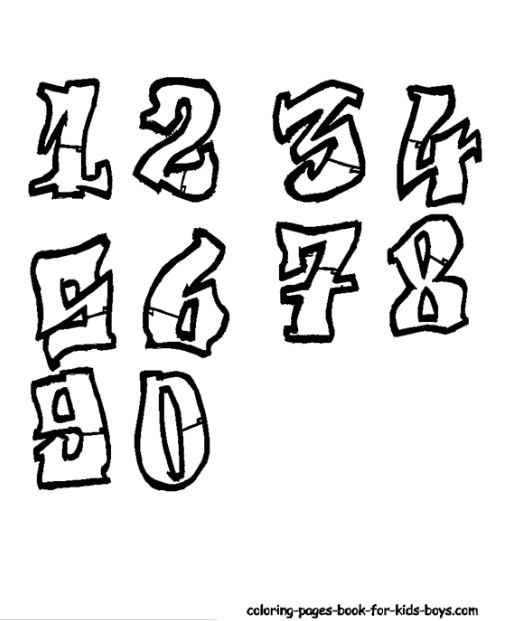 Permanent Link To Graffiti Sketches Numbers Alphabet Styles Pinterest Appliques