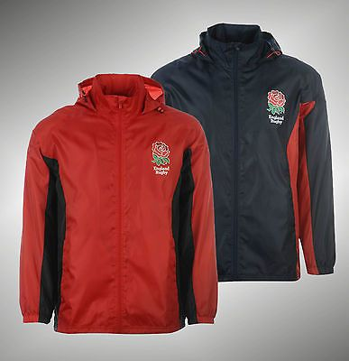 Mens branded rfu full zip england rugby rain jacket coat size