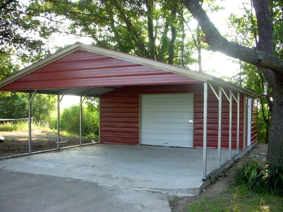 Carports with storage space carports pinterest Carport with storage room