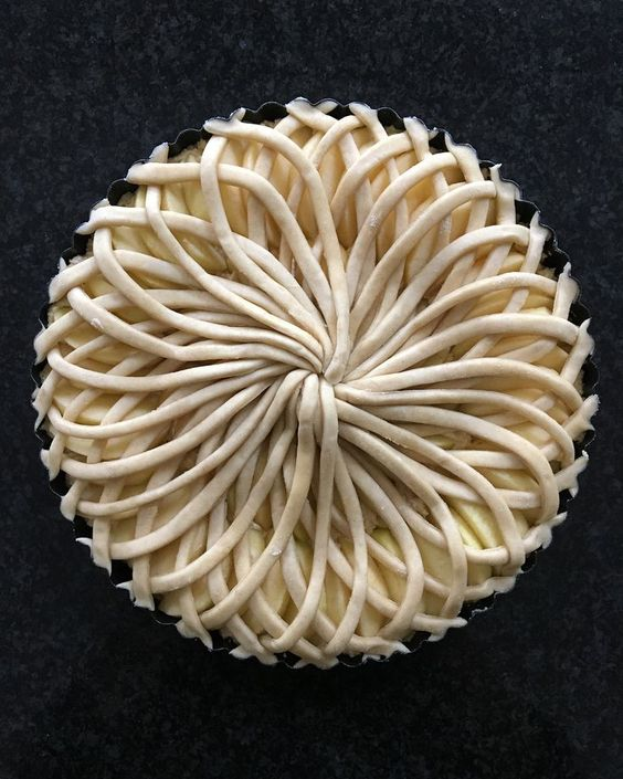 Pie Art - You can make anything into art. These are really cool though. I want to try it myself.