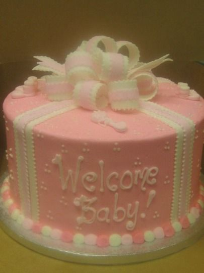 Home welcome home cakes and baby girls on pinterest for Welcome home cake decorations