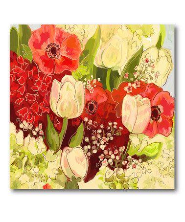 Look at this #zulilyfind! Garden Bouquet Wrapped Canvas #zulilyfinds