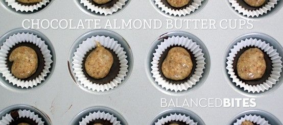 EASY RECIPE: CHOCOLATE ALMOND BUTTER CUPS