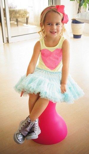Little Mass Lime Light Heart Tutu Dress