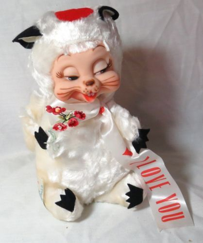 "Rare Vintage Rushton Company Rubber Face Skunk ""I Love You"""