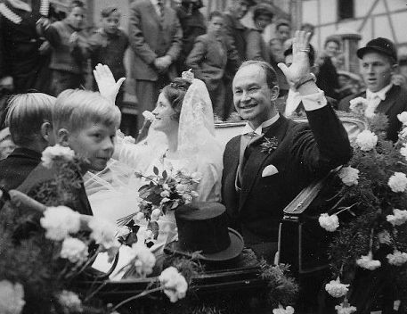 Their Royal Highnesses Prince and Princess Welf Heinrich of Hanover. Married: September 20, 1960