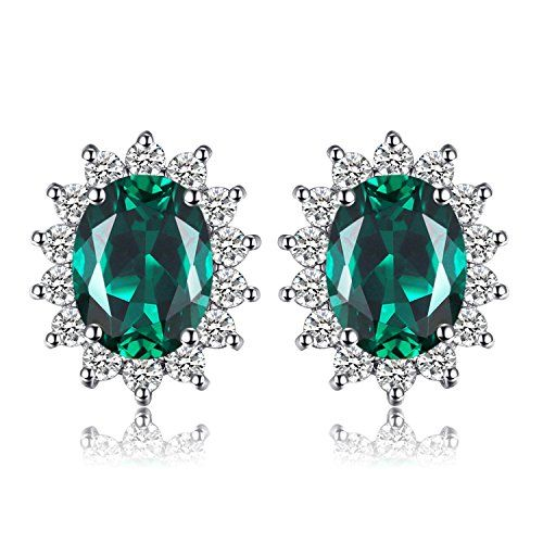 JewelryPalace Princess Diana William Kate Halo Stud Earring 925 Sterling Silver