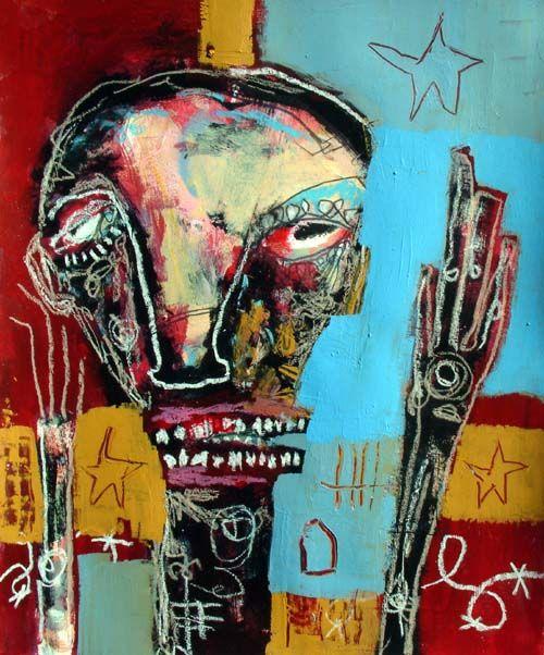Title: Civil Panic Jesse Reno American Outsider Artist - Painter found on artquotes.net