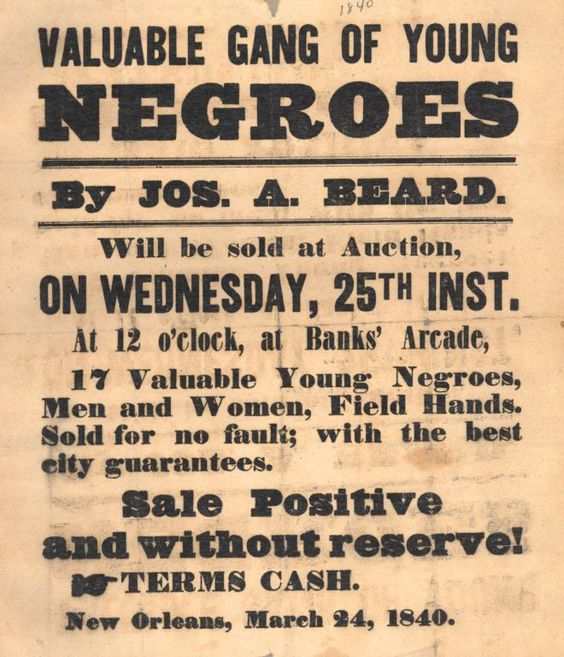 old slave ad