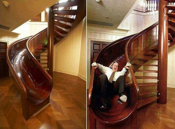 Spiral Stairs With Slide | Stairs, Slides U0026 Lifts | Pinterest | Spiral Stair,  Stair Slide And Entrance Halls