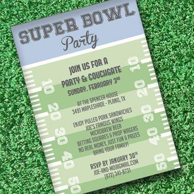 Super Bowl Invitation Template Super Bowl Invitation