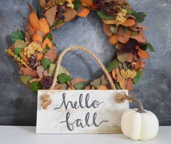Well Hello There Fall!! All Fall signs are 20% off to celebrate the first day of my favorite season! 🍁 . . . . . . #linkinprofile #fall #fallhome #wreath #falldecor #fallintofall #myseasonalfarmhouse #seasonalhome #home #pumpkin #fallhomedecor #fallhomeinspiration #etsy #handlettering #shopsmall #etsyseller #etsyshop #mysmallshoprocks