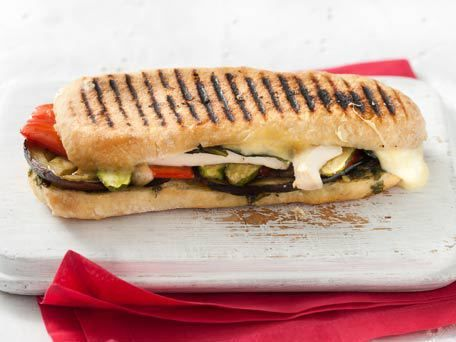 Paninis, Roasted vegetables and Tofu