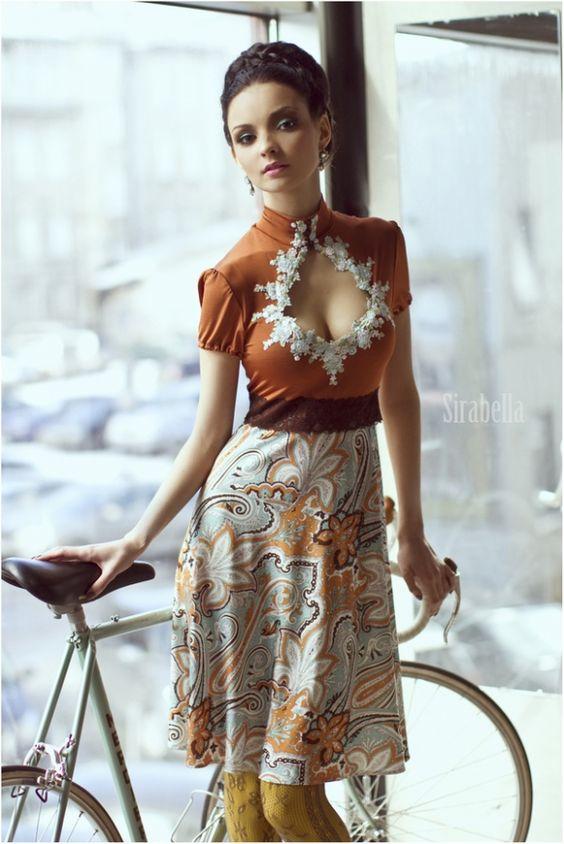 just beautiful. girl and bike