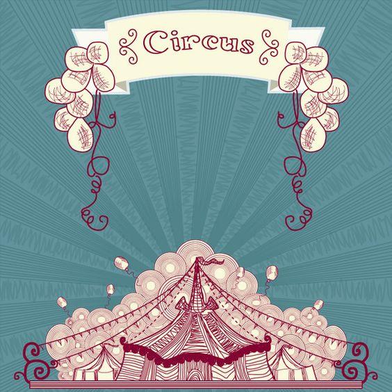 artistas de circo desenho vintage - Pesquisa Google