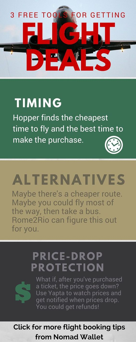 3 FREE apps and websites that you can use to score cheap flights. Check out Nomad Wallet for more money-saving travel tips!