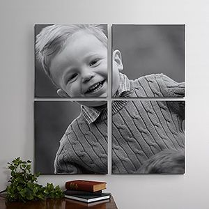 I love this idea of splitting a photo across a group of canvase ... this would look beautiful on the wall at home!!!: