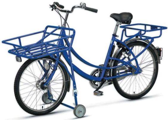 SWING Post- und Lastenrad in blau