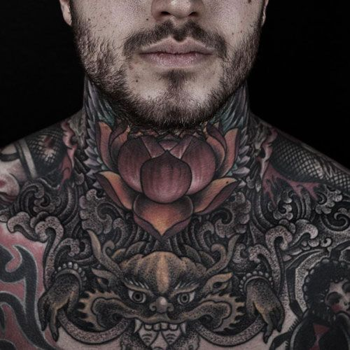 125 Best Neck Tattoos For Men Cool Ideas Designs 2020 Guide Full Neck Tattoos Neck Tattoo For Guys Best Neck Tattoos