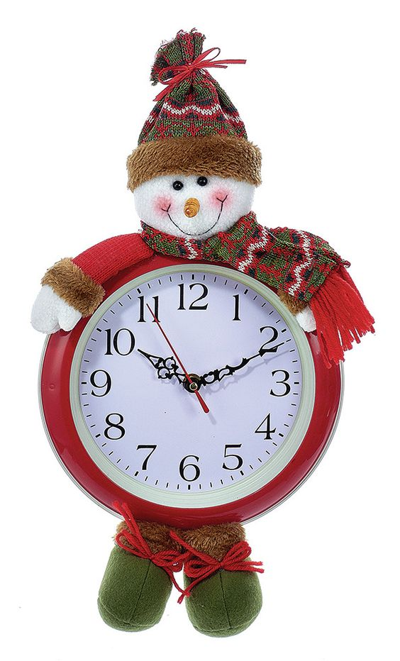 Battery-Operated Hanging Snowman Clock