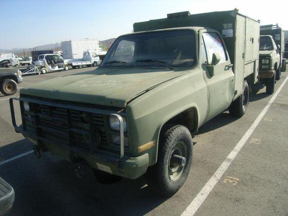 Pickup Truck Shelter : Chevrolet m cd cucv pick up truck shelter