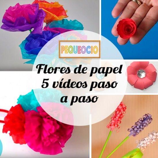 Flores de papelk