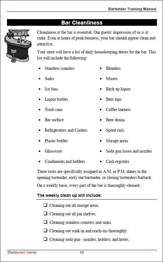 Free Employees Handbook Template High Quality Restaurant Employee Training Manual Sample Page Employee Handbook Template Employee Handbook Employee Training