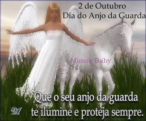 02 De Outubro Frase Dia Do Anjo Da Guarda 2 Com Imagens Anjo
