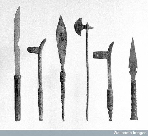 No, these aren't weapons. These are Roman surgical instruments.: