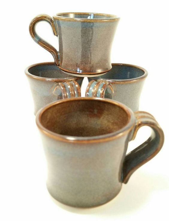 Handmade Ceramic Pottery Espresso Mugs  by PennyLanePottery