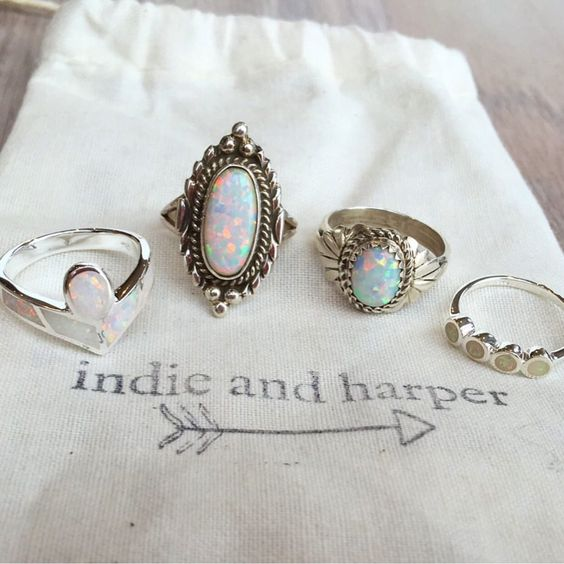 Beautiful selection of opal rings sent to one of our customers || Hope you love it Katherine xx www.indieandharper.com