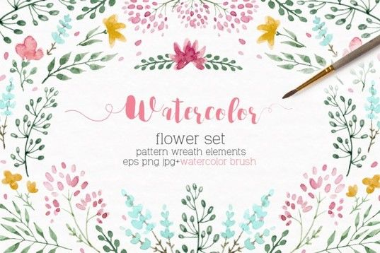 Watercolor Floral Set Brushes By Lembrik S Artworks Floral