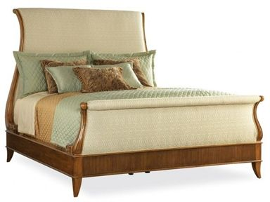 Shop For Hickory White King Upholstered Sleigh Bed 795 23 And Other Bedroom