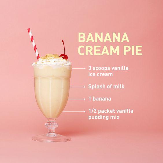 Milkshakes, Custard pies and Banana cream pies on Pinterest