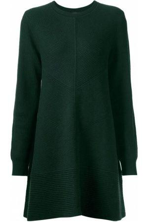 Jurken - Ribbed Knit Sweater Dress
