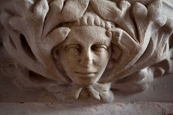 Green Man in St. Cassian's Church, Chaddesley Corbett, Worcestershire, England (photo Roger Smith)